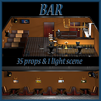 Bar 3D Models tuketama