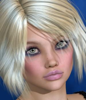 Zyv Hair for V4 and G1 3D Figure Essentials SWAM