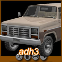 1984 Ford Bronco Themed Transportation adh3d