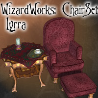 Wizards Works Chair and Table Set  Lyrra