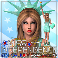 SHOOT 12: Miss Independence - 4th of July AddOn 1 3D Figure Assets 3D Models outoftouch