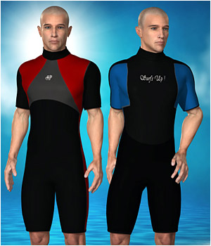 Wet Suit for Tyler 3D Figure Assets RPublishing