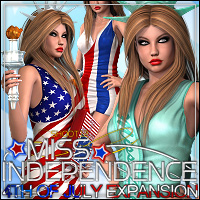 SHOOT 12: Miss Independence - 4th of July AddOn 2 3D Figure Essentials 3D Models 2D ShanasSoulmate