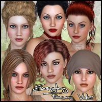 FR Everday Faces II 3D Figure Assets Freja