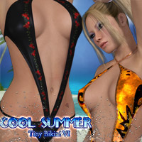 Cool Summer - Tiny Bikini VI 3D Models 3D Figure Assets kaleya