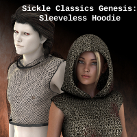 Sickle classics Genesis: Sleeveless Hoodie 3D Figure Essentials SickleYield