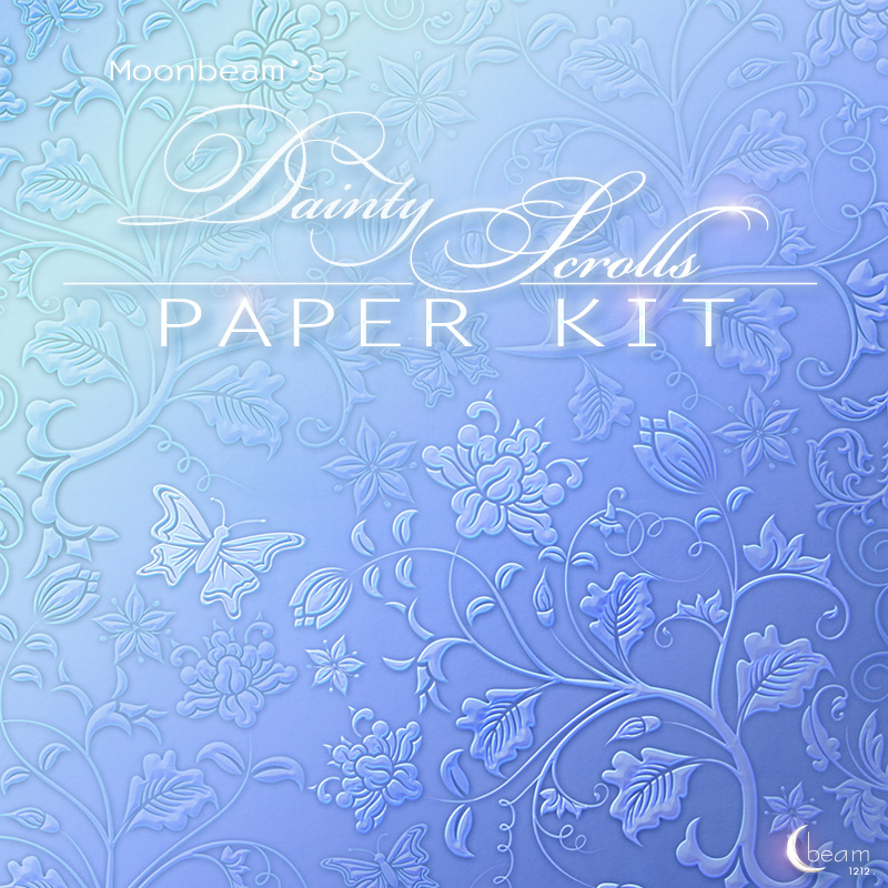 Moonbeams Dainty Scrolls Paper Kit