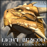 HFS Light Dragon 3D Models 3D Figure Assets DarioFish