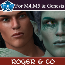 EA Roger and  Co For M4 M5 And Genesis 3D Figure Assets EmmaAndJordi