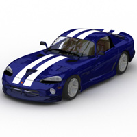 Dodge Viper (for Lightwave) 3D Models Digimation_ModelBank