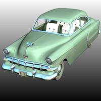 Chevrolet 1954 2 Door ( for Poser ) 3D Models Nationale7