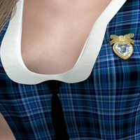 Cute Schoolgirl 2 Detention Outfit for V4 image 5