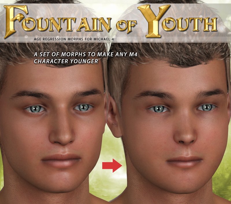 i13 Fountain of YOUTH for M4 3D Figure Assets ironman13