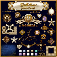 Birthstone Bling!: JUNE-PEARLS 2D Graphics fractalartist01