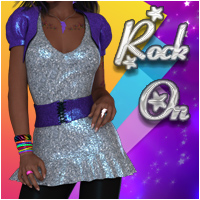 Rock On Themed Clothing Silver