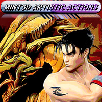 M3D Artistic Actions 2D Graphics 3D Models 3D Figure Assets Mint3D