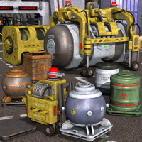 Cargobots And Containers 3D Models Nightshift3D