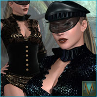 MRL Dark Reflections2 for Steampunk Outfit Software Clothing Themed Mihrelle