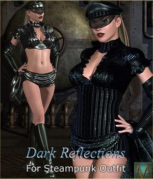MRL Dark Reflections2 for Steampunk Outfit 3D Figure Essentials Mihrelle