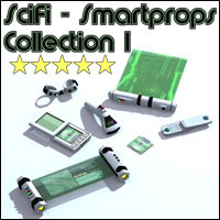 SciFi Smartprop Collection I 3D Figure Assets 3D Models Legacy Discounted Content 3-d-c