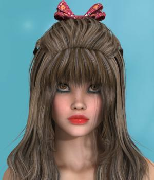 Fleurette Hair for V4 3D Figure Assets SWAM