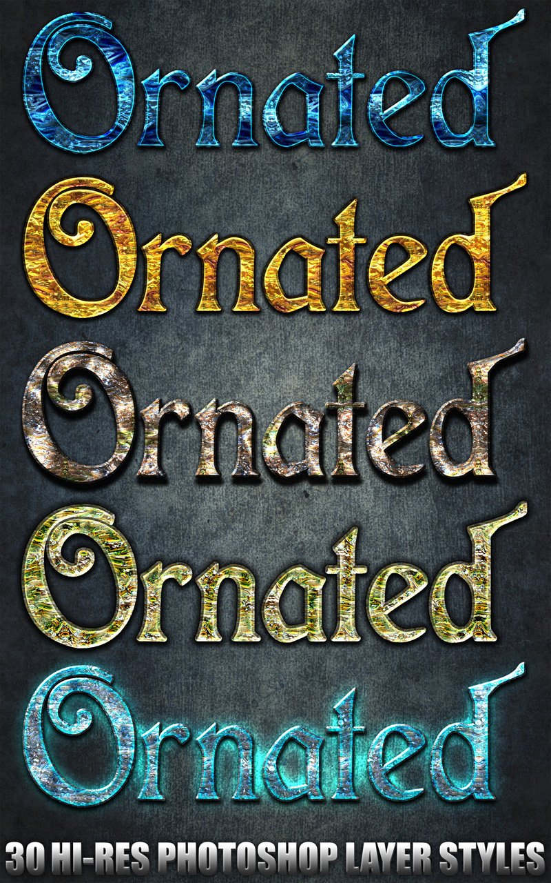 Ornated - Photoshop Styles