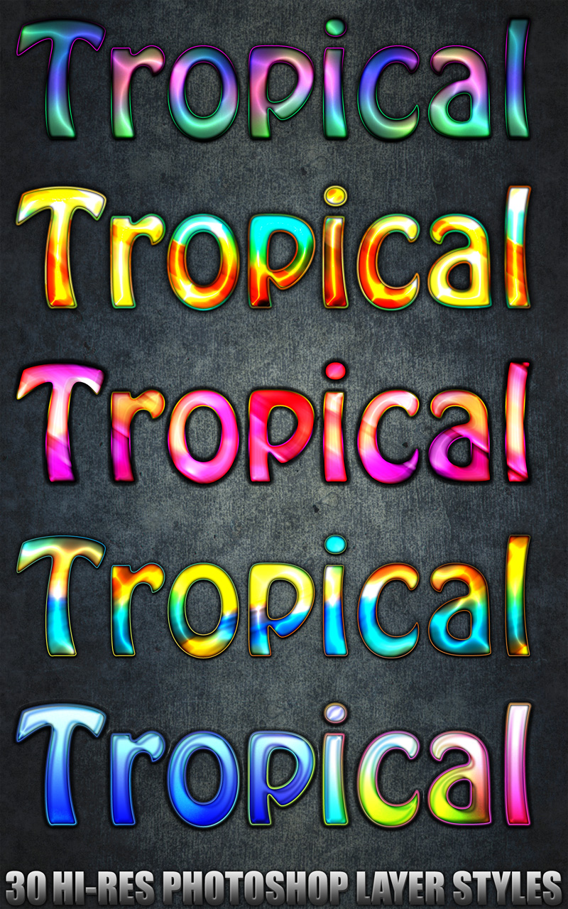 Tropical - Photoshop Styles