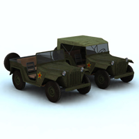 GAZ 67 B (for Vue) 3D Models Digimation_ModelBank