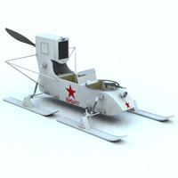 Soviet Aerosan RF 8 (for Vue) 3D Models 3D Figure Essentials Digimation_ModelBank