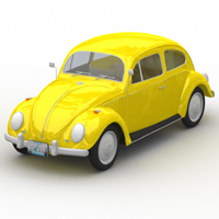 Volkswagen Beetle (for Lightwave) 3D Models Digimation_ModelBank