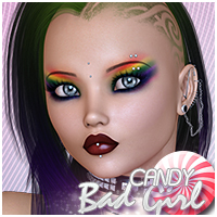 Candy Bad Girl Themed Hair Sveva