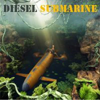 Diesel Submarine Transportation Themed 1971s