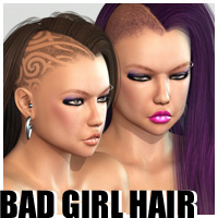 Bad Girl Hair 3D Figure Assets outoftouch