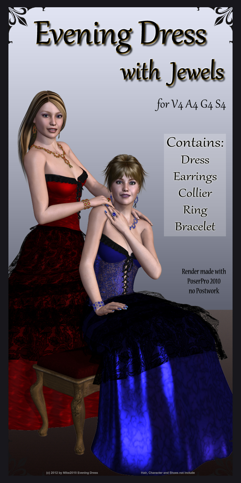 Evening Dress with Jewels for V4/A4/S4/G4/Angel