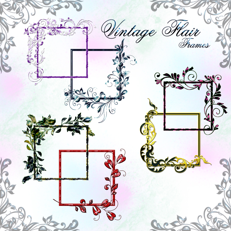 Vintage Flair.. Digital Frames