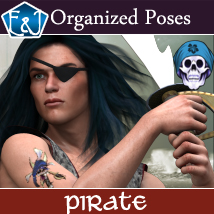 Pirate 611 Organized Poses For M4 3D Figure Assets EmmaAndJordi