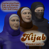 Hijab 3D Models 3D Figure Essentials pappy411