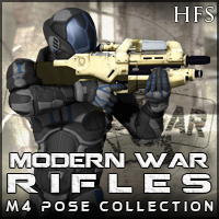 ModernWar:Rifles Ultimate Pose Collection for M4 3D Models 3D Figure Essentials DarioFish