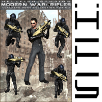 ModernWar:Rifles Ultimate Pose Collection for M4 image 1