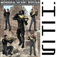 ModernWar:Rifles Ultimate Pose Collection for M4 image 2