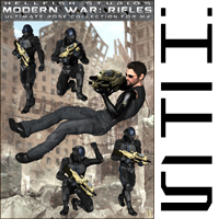 ModernWar:Rifles Ultimate Pose Collection for M4 image 3