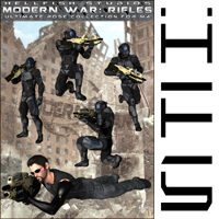 ModernWar:Rifles Ultimate Pose Collection for M4 image 4