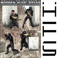 ModernWar:Rifles Ultimate Pose Collection for M4 image 5