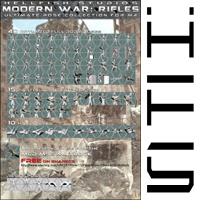 ModernWar:Rifles Ultimate Pose Collection for M4 image 6