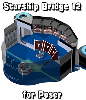 Starship Bridge 12 for Poser  3D Models VanishingPoint