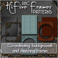 ABC HiFive Frames - Patterns Themed 2D And/Or Merchant Resources Bez