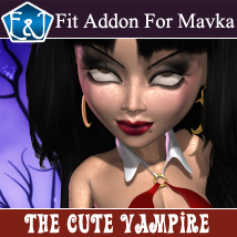 The Cute Vampire 3D Figure Assets EmmaAndJordi
