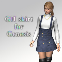 GH skirt for Genesis 3D Figure Essentials kobamax