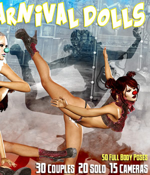 Carnival Dolls 3D Figure Assets 3D Models Darkworld