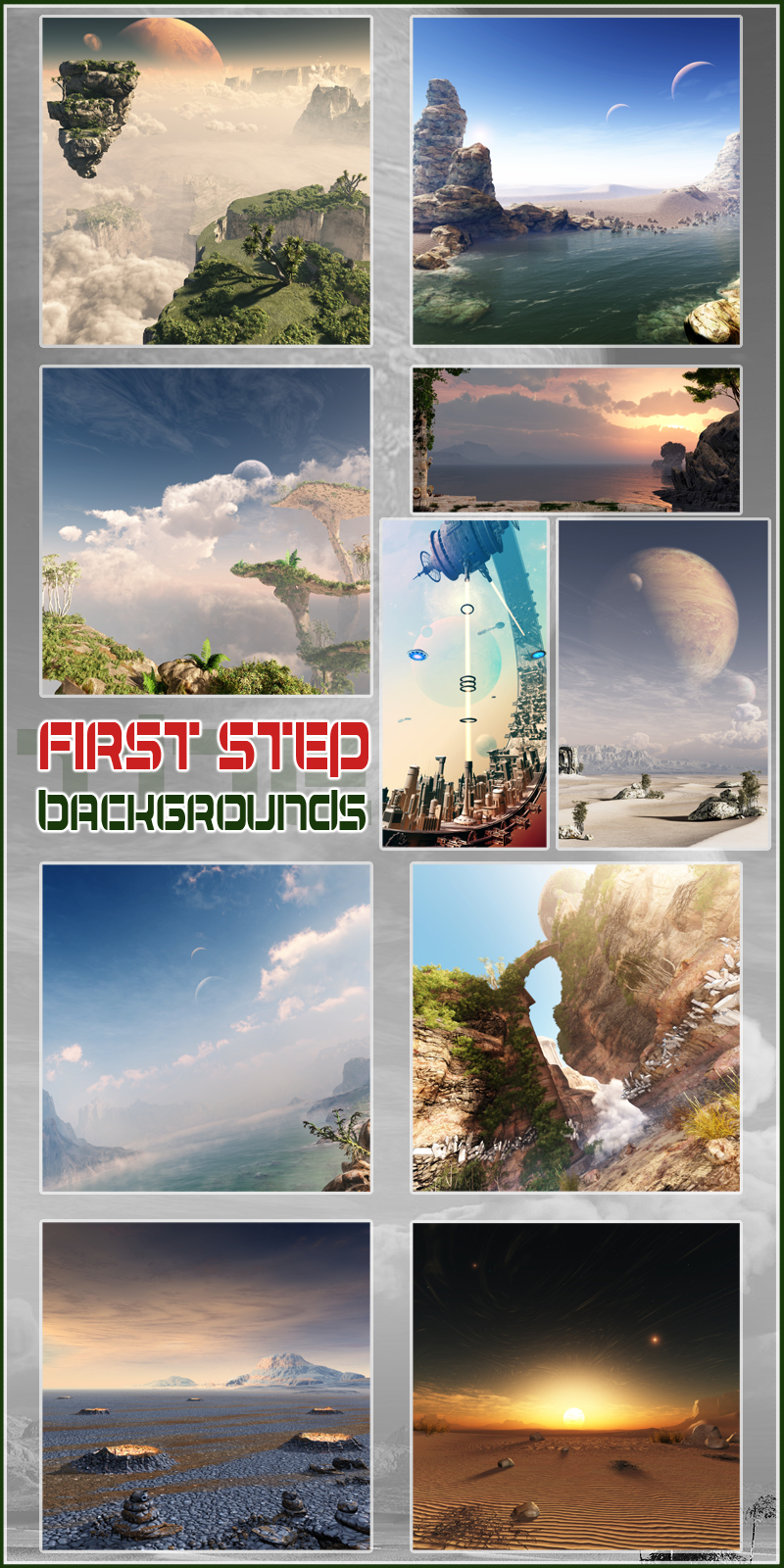 The first step backgrounds